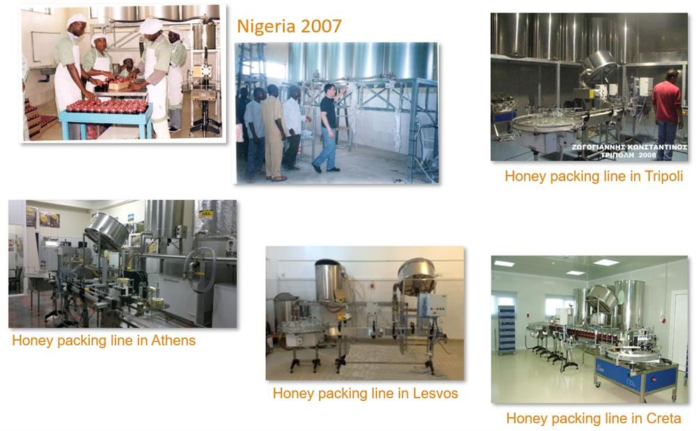 Example of honey packing line installations