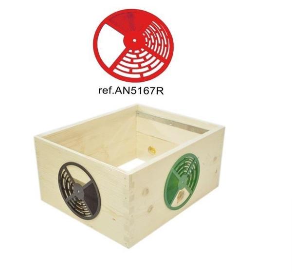 Δίσκος Εισόδου Ρυθμιζόμενος κόκκινος ANEL
