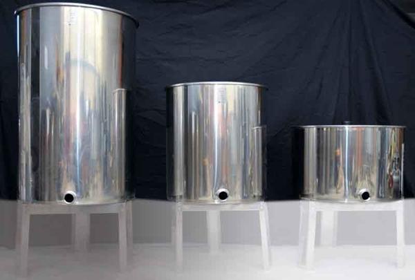Δεξαμενή Ηρεμίας Μελιού  ΙΝΟΧ 250 lt  ( 350 Kg )