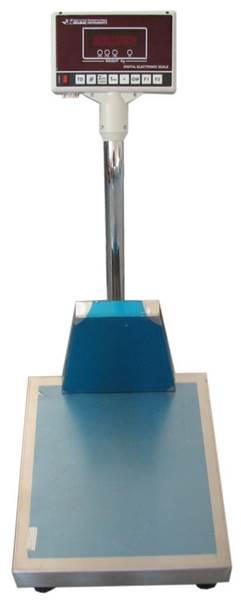 Ζυγαριά Δαπέδου 300 κιλά υποδιαίρεση 50gr 40X45 με Εξοδο Συνδεσης Εκτυπωτη