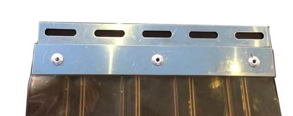 Λωριδοκουρτίνας πιαστράκια ΙΝΟΧ για λωρ/νες 200x2mm