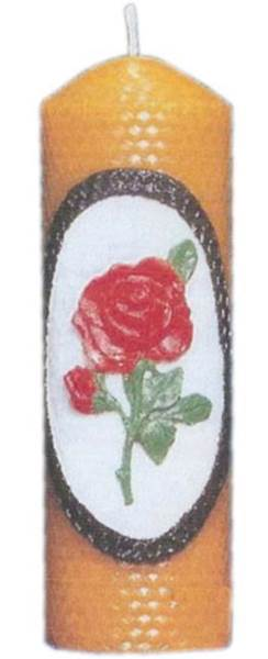 Καλούπι κερί κηρήθρα με τριαντάφυλλο