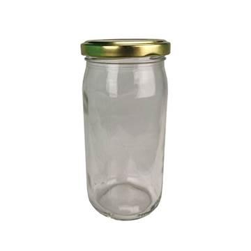 Βάζο Γυάλλινο Στρογγυλό 370 ml φ63 με Καπάκι Χρ...