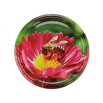 Καπάκια Γυάλινων Βάζων Μέλισσα Κόκκινο Λουλούδι...