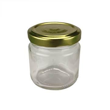 Βάζο Γυάλλινο Στρογγυλό 106 ml φ53 με Καπάκι Χρ...