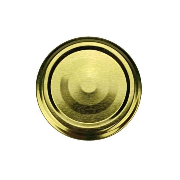 Καπάκια Γυάλινων Βάζων Χρυσά Twist Off φ63