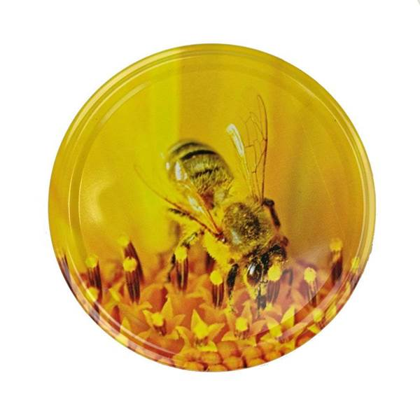 Καπάκια Γυάλινων Βάζων Μέλισσα Twist Off φ82 (για Βάζο 720 ml)