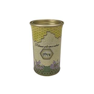 Βάζο Μεταλλικό Στρογγυλό με Καπάκι 0,5 kg ενδια...