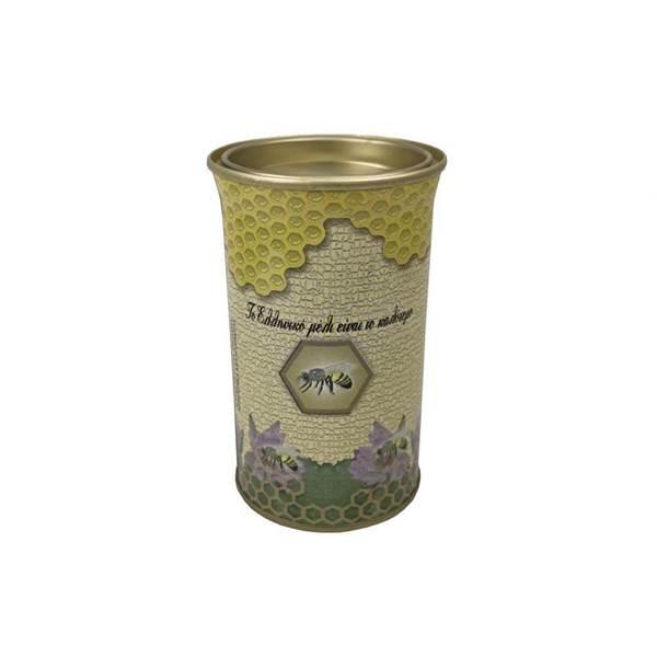 Βάζο Μεταλλικό Στρογγυλό με Καπάκι 0,5 kg ενδιαμεσο