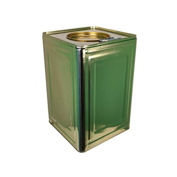 Δοχείο Μεταφοράς Μελιού Μεταλλικό 26 kg Χρυσός μεσαία τρύπα φ14cm