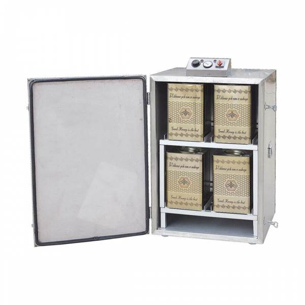 Picture of Honey Heating Chamber for 8 containers of 26 Kgs INOX 220V
