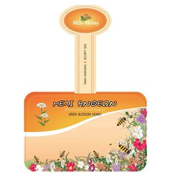Picture of Label flower blossom honey 1